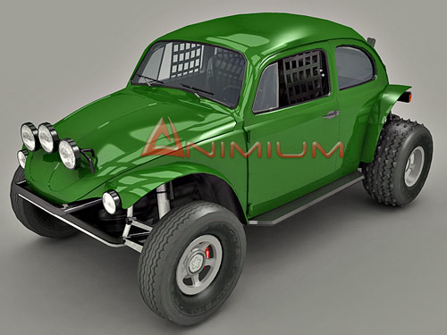 volkswage, beetle, baja bug, 3d model