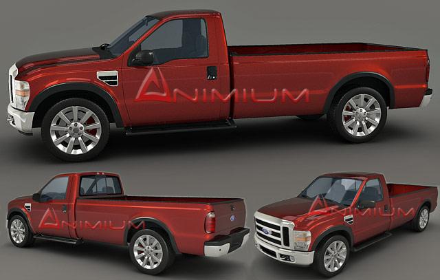 3d models - ford f250 - free 3d models