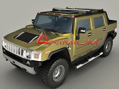 Hummer h2 free 3d model