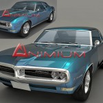 1968 Pontiac firebird 3d model