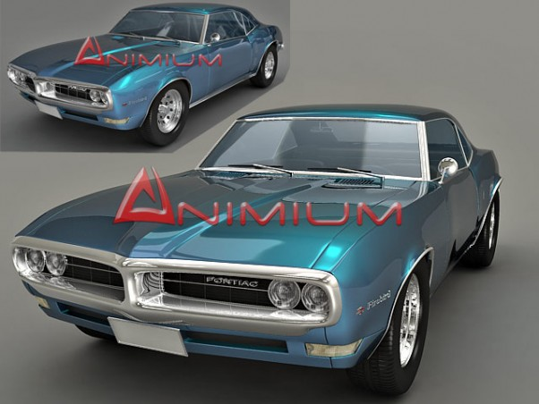pontiac firebird 3d model