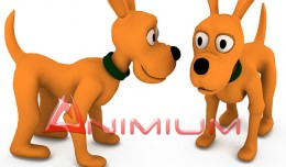cartoon dog 3d model