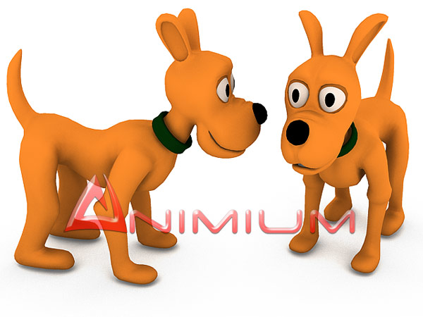 High quality 3d cartoon dog model, Quad faced, sub – divisional mesh ...