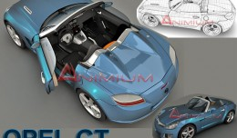 3d renders of opel GT