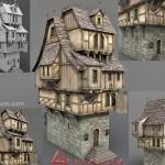 Medieval tavern 3d model