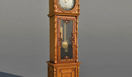 antique clock 3d model