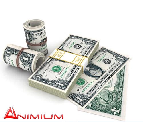 dollar stack and bundle 3d model