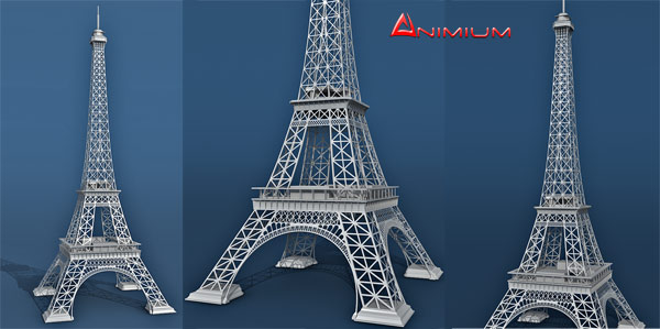 Eiffel tower 3d model free 3d models for Eiffel tower model template