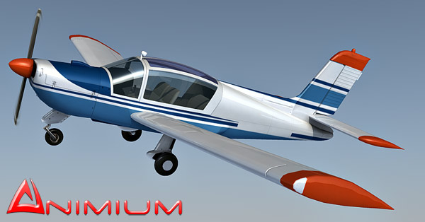 ms893 light aircraft 3d model