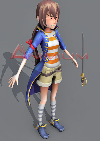 pirate girl character model