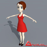 Woman 3d character