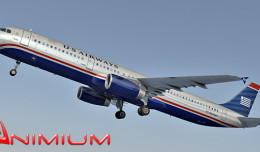 airbus us airways 3d render