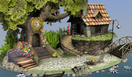 dwarf house 3d model