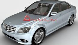 Mercedes C350 3d render