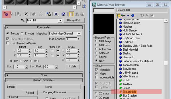 material browser