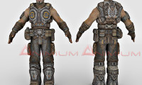 Marcus Fenix 3d character