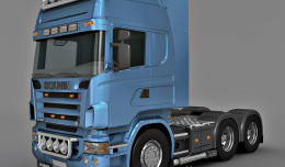 scania 520 truck 3d model