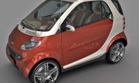 smart forwo 3d model