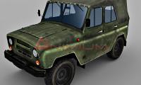 uaz 469 3d model