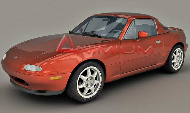 mazda mx 5 miata 3d model animium 3d models. Black Bedroom Furniture Sets. Home Design Ideas