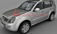 ssangyong rexton 3d model