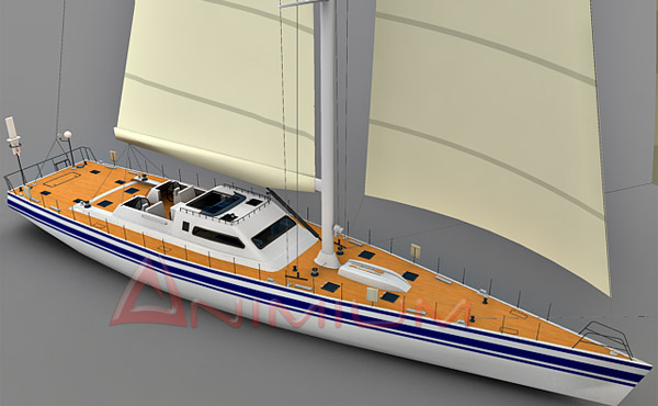 yacht free 3d models