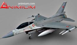 F-16 aircraft 3d model