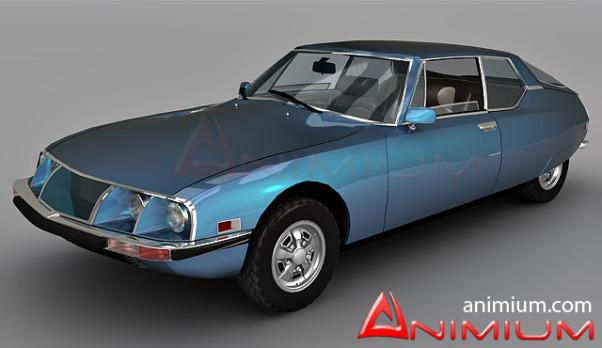 Citroen SM 1971 3d model