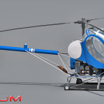 Hughes 269c helicopter 3d model