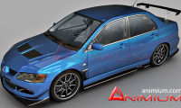 Lancer Evolution IX free 3d models