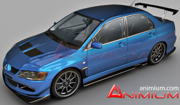 Lancer Evolution IX free 3d models