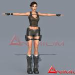 Lara Croft 3d Character