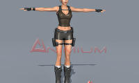 Lara Croft full character rig for 3ds max