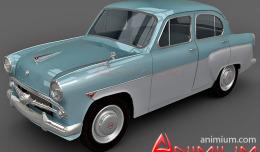 Moskvitch 407 3d model