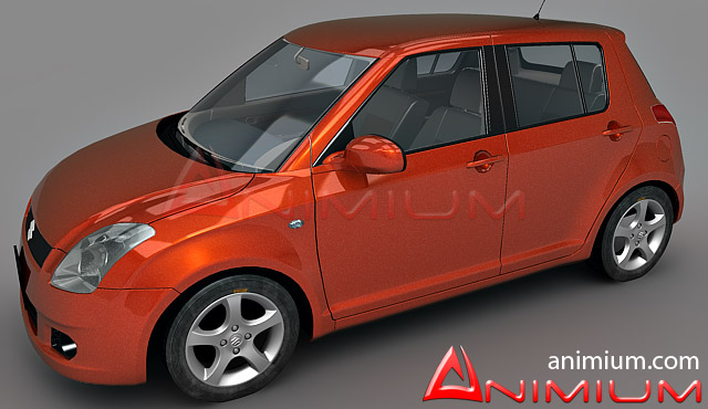 Suzuki Swift car 3d model 3ds Max files free download - modeling on CadNav
