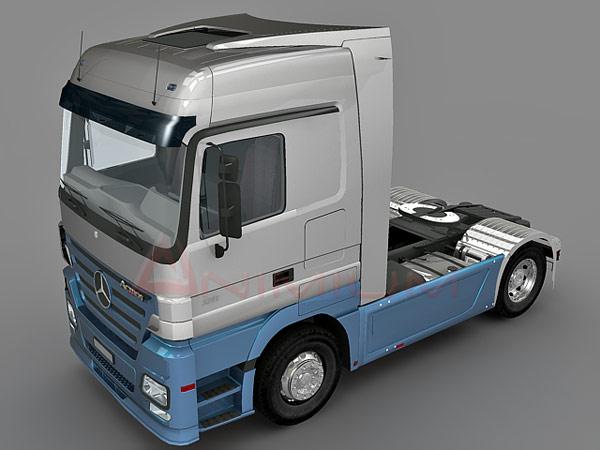 Benz Actros truck 3d model