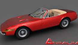 Ferrari 365 gts4 3d model
