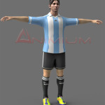 Lionel Messi 3d character