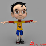 Little Boy 3d character model