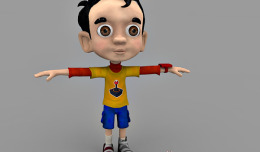 Little boy 3d character