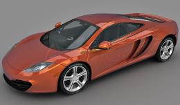 McLaren Mp4 12C 3d model