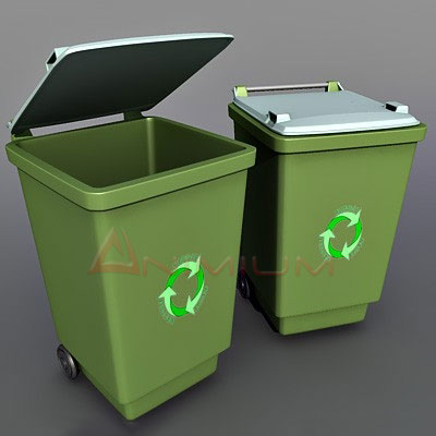 Recycle bin 3d model