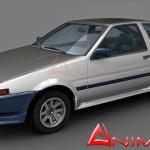 Toyota Corolla AE86 3d model