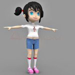 Zoey 3d character
