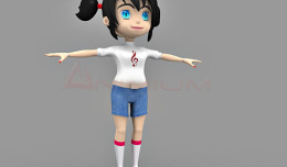 Zoey 3d character model