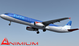 Airbus A321 British midland 3d model