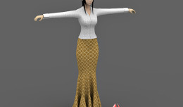 Asian girl 3d character