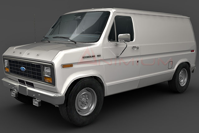 Ford Transit Wagon >> 1975 Ford Econoline E150 - Free 3d models