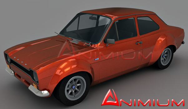 Ford Escort MK1 3d model