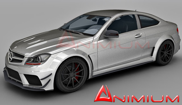 3dSkyHost: Mercedes-Benz C63 AMG 3d model